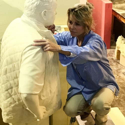 Sculptures by Eleanor Cardozo seen at Private Residence - Private Commissioned Sculpture