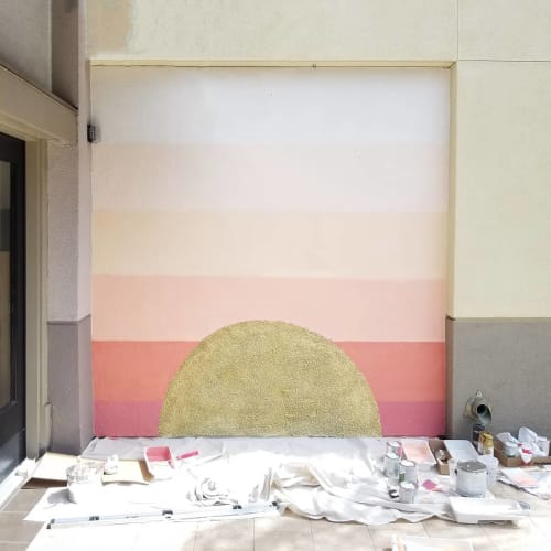 Sunset Mural   Murals by Stefanie Bales Fine Art   Flower Hill Promenade in Del Mar