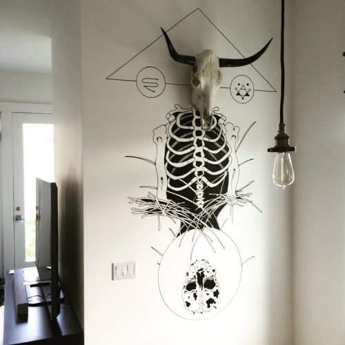 Murals by Axel Geittmann seen at Private Residence, Denver - Indoor Mural