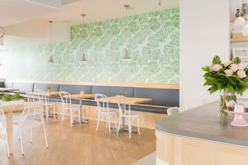 Wallpaper by Candice Kaye Design at Mary Be Kitchen, Toronto - Cabbage Wallpaper