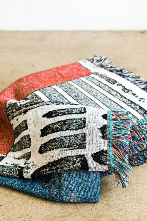 "Linens & Bedding by K'era Morgan seen at Creator's Studio, Los Angeles - ""Hard Water"" Woven Throw"