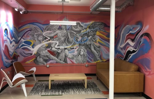 Interior Design by Josh Scheuerman seen at C9 Flats, Salt Lake City - Athena Battles The Giants