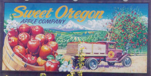 Murals by Public seen at 1000 NE Cornelius Pass Rd, Hillsboro - Sweet Oregon Apple Company Mural
