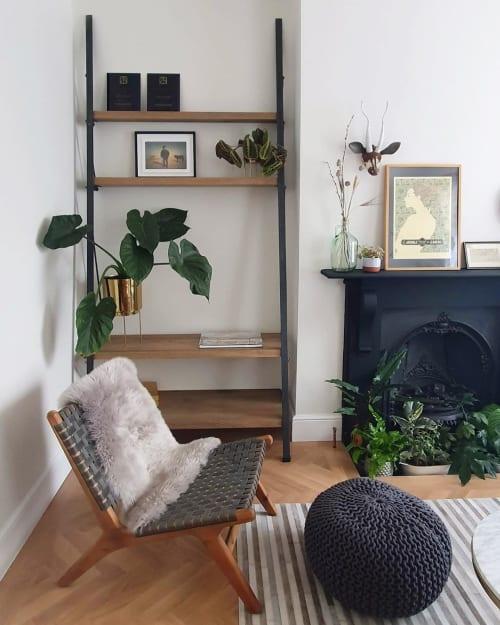 Furniture by Konk Furniture Ltd. seen at Private Residence - Custom Ladder Shelving