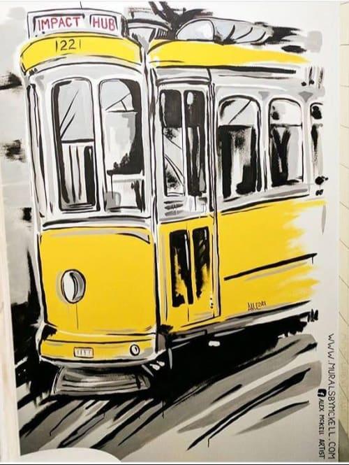Murals by MURALS BY MCKELL seen at Impact Hub Lisbon, Lisboa - Lisbon Tram