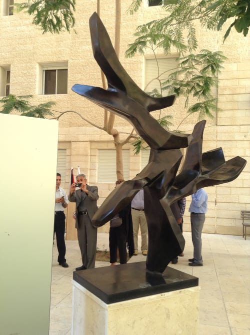 Public Sculptures by Hedva Ser seen at Al-Quds University, East Jerusalem - Abu Dis - Tree of Peace