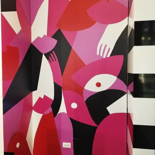 Murals by Liz Flores seen at Water Tower Place, Chicago - Sephora Mural