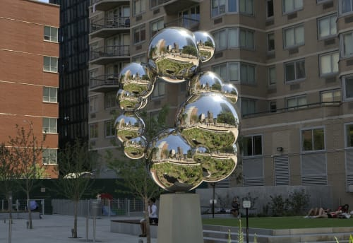 Public Sculptures by David Fried seen at East 34th Street & 1st Avenue, New York - Stemmer, 2018