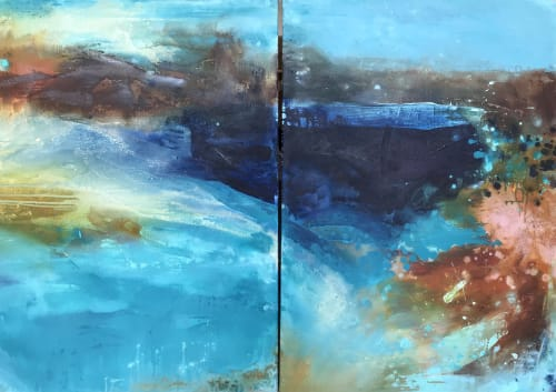 Paintings by Kathleen Rhee seen at Private Residence, Red Hill - Home & Heart no.1 and no.2