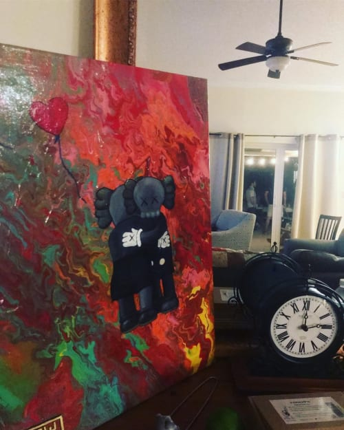 Paintings by Marcelo Boggio seen at Private Residence, Dania Beach - Lovers
