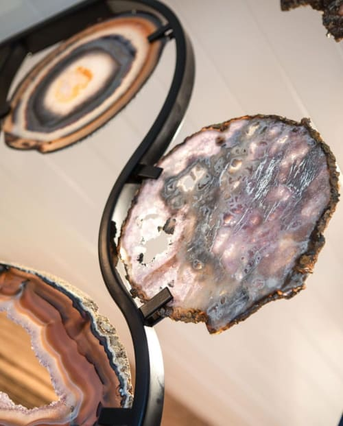 Art & Wall Decor by Ron Dier Design seen at Private Residence, Newport Beach - Agate Slice Room Divider