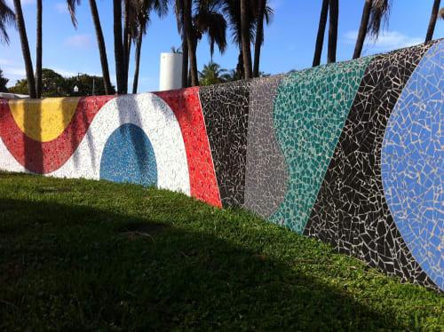 Public Mosaics by Debra Yates seen at Collins Avenue & 72nd Street, Miami Beach - Drive By Celebration