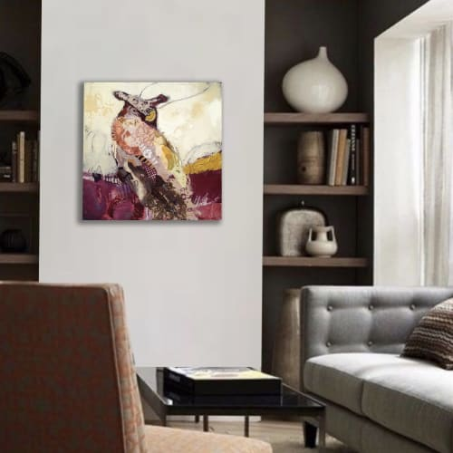 Paintings by Shelli Walters Studio seen at Creator's Studio, Bend - Pause To Listen Painting