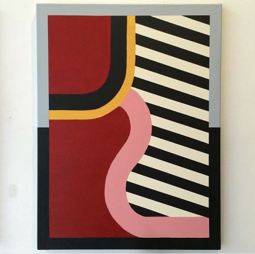Paintings by Kevin Umaña at Private Residence, Seattle - A Walk With Friends