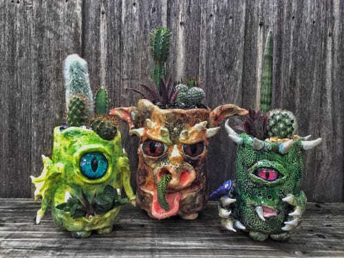Vases & Vessels by Bonsai and Bits seen at Private Residence - Melbourne, VIC, Melbourne - Collection of Monster Pots