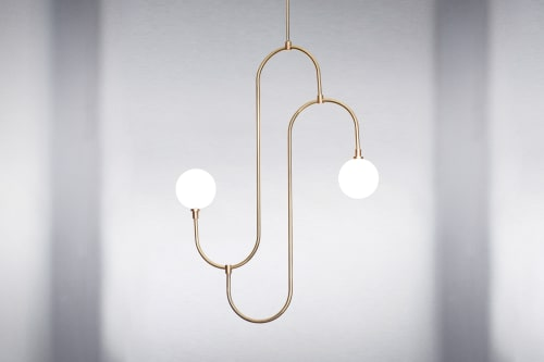 Pendants by Marc Wood Studio seen at Private Residence, Paris - Jack and Jill Pendant