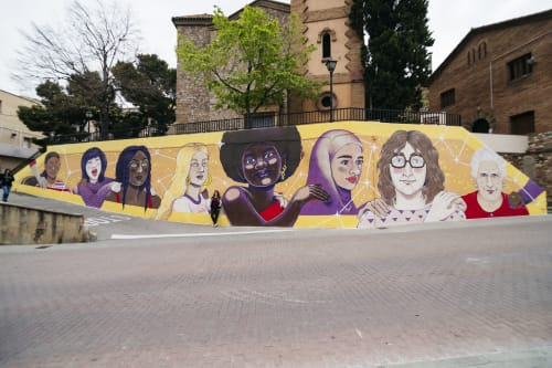Murals by Maga Artwork seen at Ripollet, Ripollet - Sisterhood