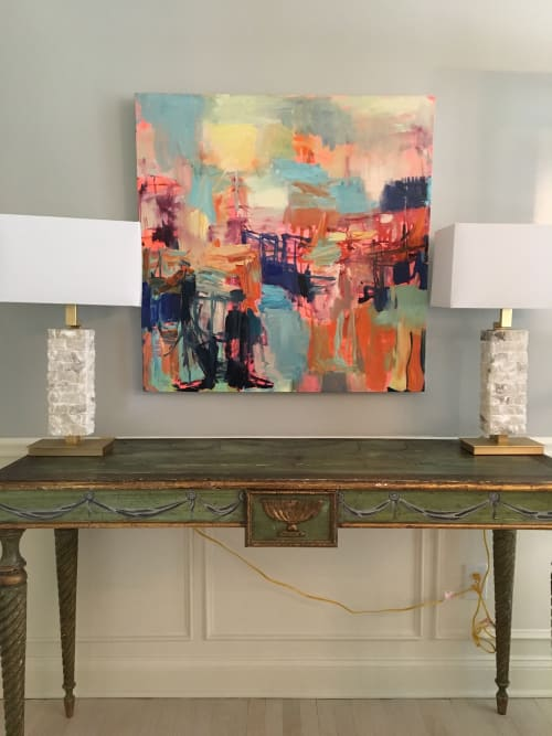Paintings by Galen Cheney seen at Private Residence, New Canaan, New Canaan - En Rose
