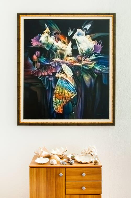 Paintings by Temesvari Art seen at Private Residence, Budapest - Metamorphosis