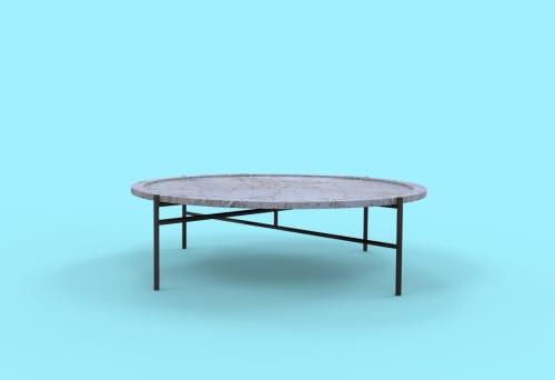 Tables by Linski Design - Concrete Art seen at Private Residence, Tel Aviv-Yafo - KETTER TABLE