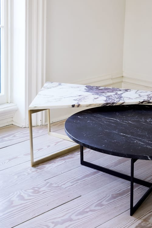 Interior Design by Atlas Industries seen at Creator's Studio, Newburgh - AT14 Round/Triangular marble coffee table
