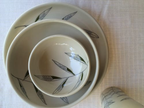 Ceramic Plates by Amy Halko Ceramics at Private Residence, Cleveland - Mix and Match Dinnerware