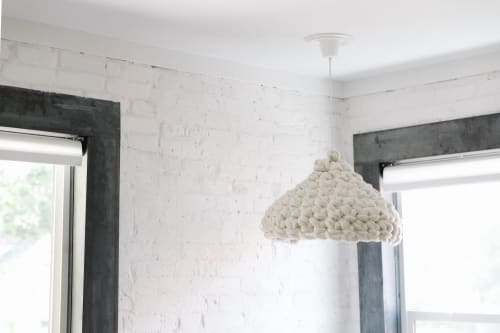 Lamps by Flax & Twine seen at Private Residence, Denver - Crocheted Lampshade