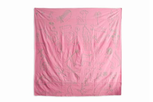 Linens & Bedding by Kaye Blegvad seen at Private Residence, Brooklyn - Flash Embroidered Bedspread - Pink