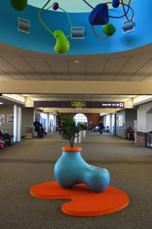 Sculptures by Roberley Bell at Albany International Airport - Chasing the Sky