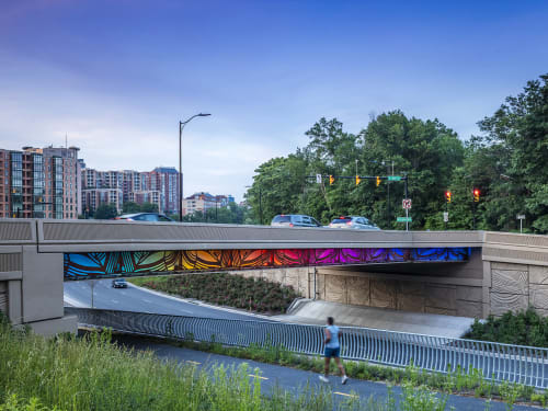 Public Sculptures by Vicki Scuri SiteWorks at Arlington Boulevard at Courthouse Road and 10th Street, Arlington, VA, Arlington - Arlington Boulevard Bridges