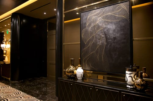Paintings by Tracie Cheng at Waldorf Astoria Beverly Hills, Beverly Hills - Custom Painting