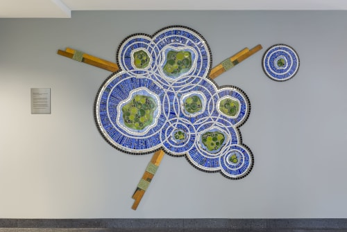 Art & Wall Decor by Stacia Goodman Mosaics seen at St. Cloud State University, St. Cloud - Ripples & Connections