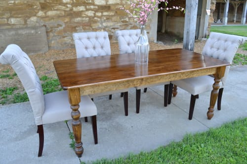 Tables by Hazel Oak Farms seen at Private Residence, Homestead - Traditional Farmhouse Table with Turned Legs