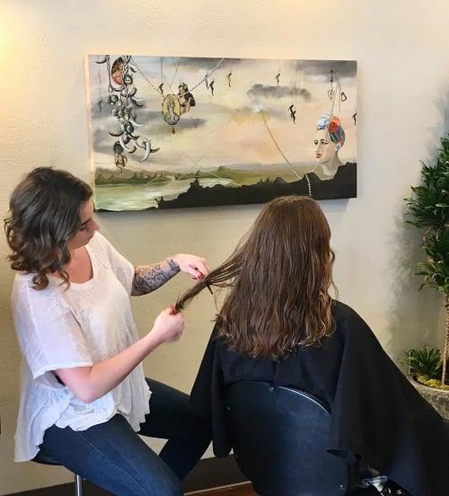 Paintings by Andrea Borsuk seen at Kinship Hair Co., Santa Cruz - Painting