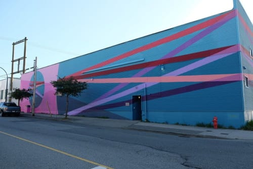 Street Murals by Tristesse Seeliger seen at 882 E Cordova St, Vancouver - The Infinite Line