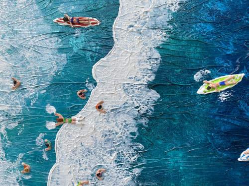 Paintings by Elizabeth Langreiter Art seen at Private Residence, Paris - Stress Free