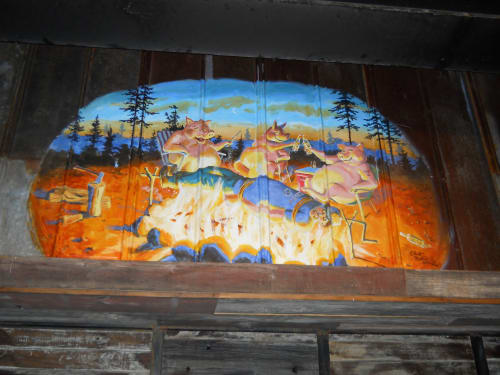 Art & Wall Decor by Elliott Mattice Art & Design seen at New York - Dinosaur BBQ all locations and product, branding, misc. Murals, graphics, surface decor, signage, we cover a lot of ground.