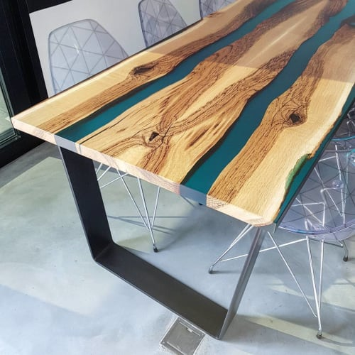 Tables by Atelier Insolite seen at Private Residence, Neuchâtel - Swiss Wood Table