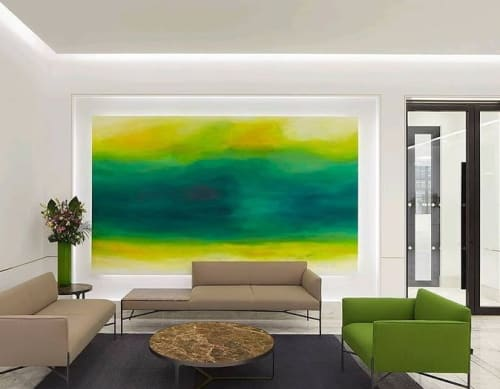 Paintings by CHRISTIAN BAHR seen at Walsingham House, London - OF LOVE AND HOPE AT THE END OF SUMMER