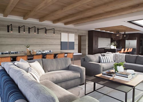 Wall Hangings by Pierce Meehan Design at Private Residence, Newport Beach - Surf Panel Art