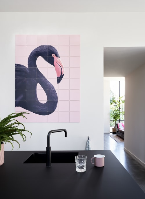 Photography by Paul Fuentes Design seen at Private Residence - Black Flaimingo