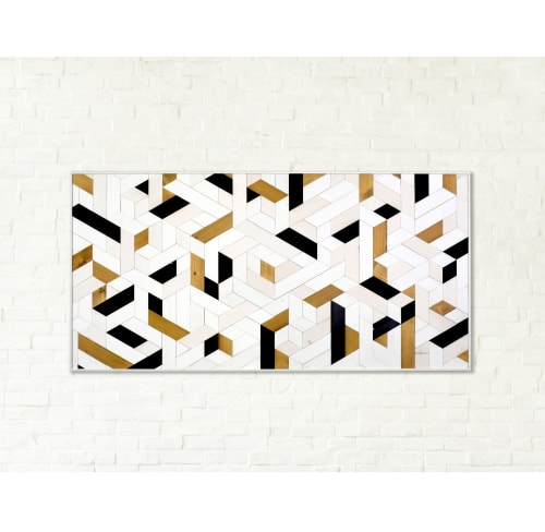 Wall Hangings by Ethos Woodworks seen at Private Residence, Chicago - Modern Abstract No. 1 - Wood Wall Art