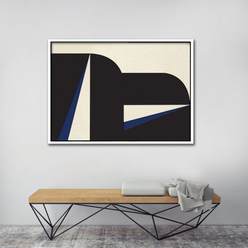 Abstract Blue Graphic No. 2 | Paintings by Nicolette Atelier