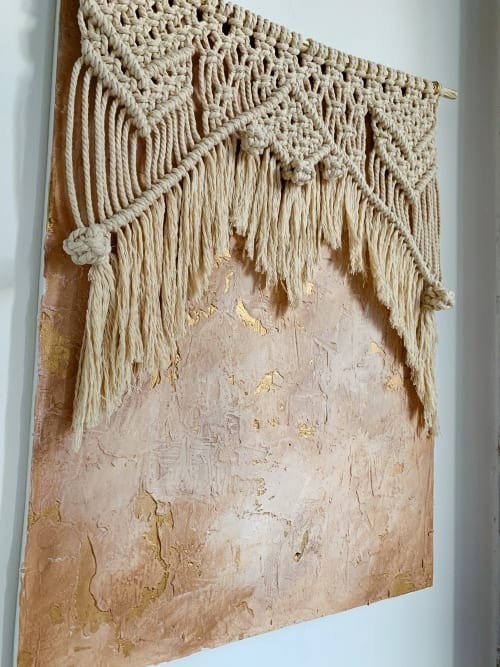 Macrame Wall Hanging by Ava Shields Art seen at Private Residence, Atlanta - In the Raw No. 4