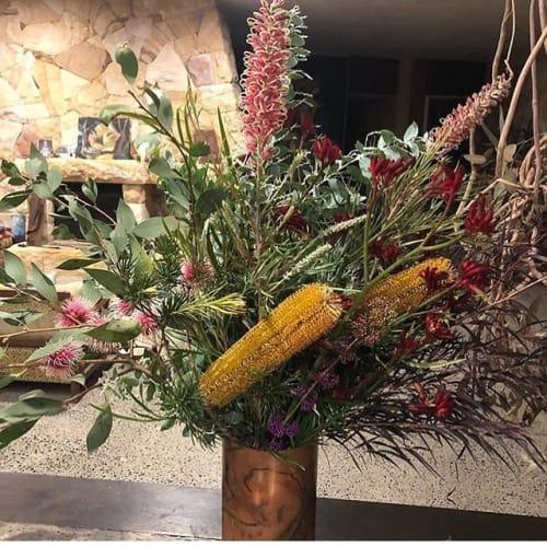Vases & Vessels by grey box design seen at East Coast Wildflowers, Homebush - Medium Copper Vase