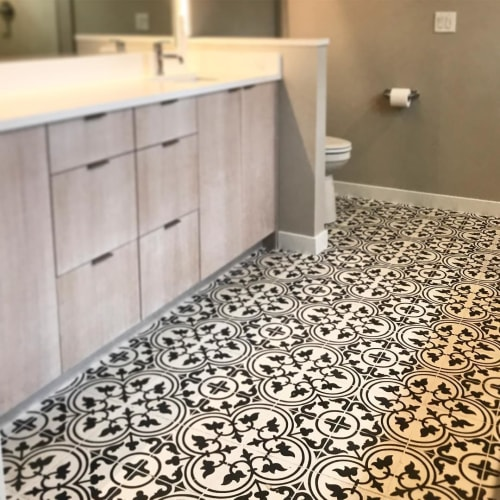 Tiles by Zia Tile seen at Private Residence, Portland - Churchill Tile