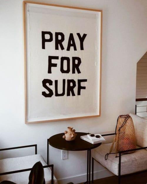 Art & Wall Decor by Ali Beletic seen at The Surfrider Hotel, Malibu, Malibu - Pray for Surf Flag