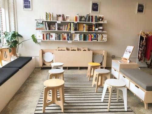 Pleasant Stools Modular Bench And Modular Creamer Station By Flitch Uwap Interior Chair Design Uwaporg