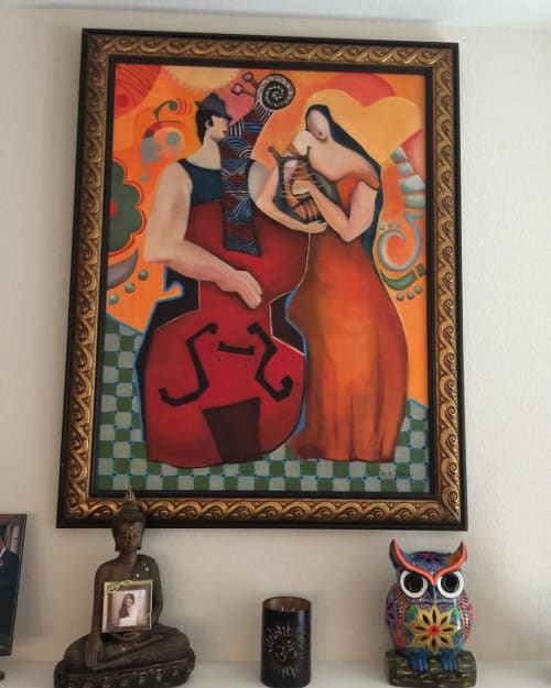 Paintings by Niki J Sands seen at Private Residence, Dallas - Music Is Love