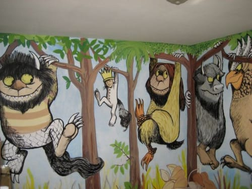 Murals by Anna-Lisa Notter seen at Private Residence, Seattle - Where the Wild Things Were